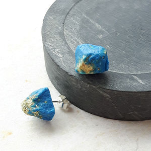 Mismatched Nugget Studs - earrings