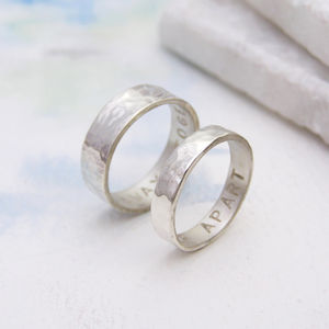 Personalised His And Hers Rings - alternative wedding rings under £100