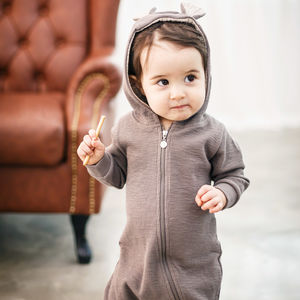 Personalised Bambi Hooded Jumpsuit - gifts for babies