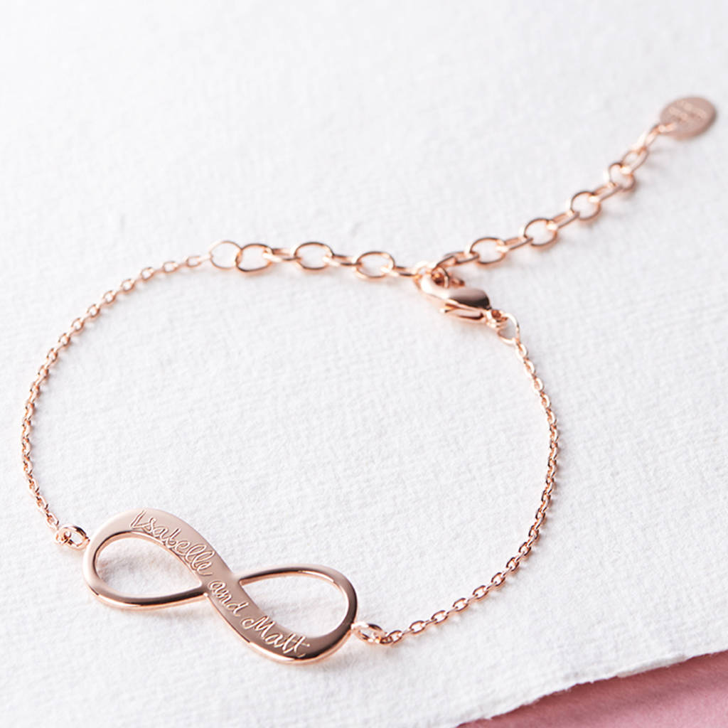 Personalised infinity chain bracelet by merci maman personalised infinity chain bracelet biocorpaavc