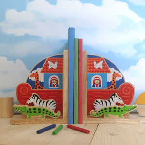 Fair Trade Noah's Ark Bookend Set - home accessories