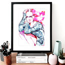 Fashion Illustration Anna Stripe Sketch Print