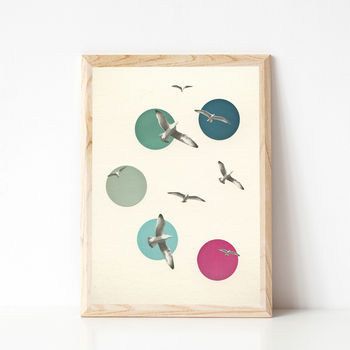 Circling Coastal Bird Art Print