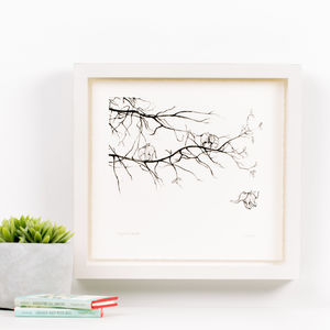 'Elephant Bird' Children's Illustration Print - children's room