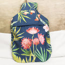 Personalised Tropical Hot Water Bottle Cover Gift