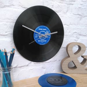 Personalised Vinyl Record Wall Clock - home accessories