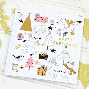 Scandi Christmas Card 'Winter woods' - cards & wrap
