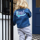 Personalised Swoosh Denim Jacket