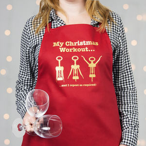 Christmas Workout Apron - kitchen accessories