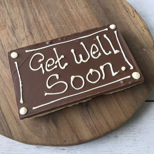 Get Well Soon Letterbox Millionaire Shortbread Card - biscuits and cookies
