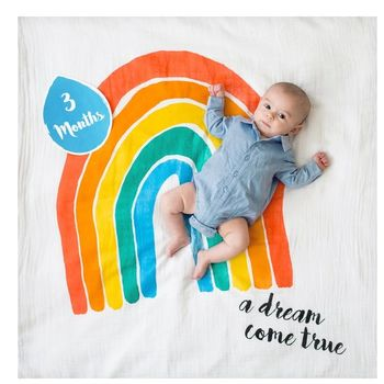 A Dream Come True Rainbow Baby Photography Blanket