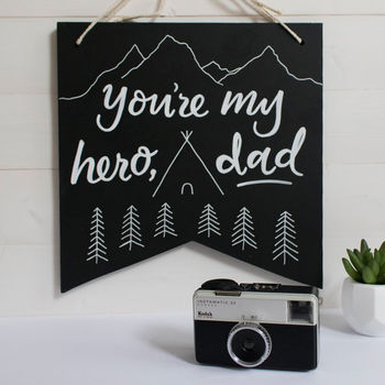 Father's Day Hero Adventure Wall Hanging