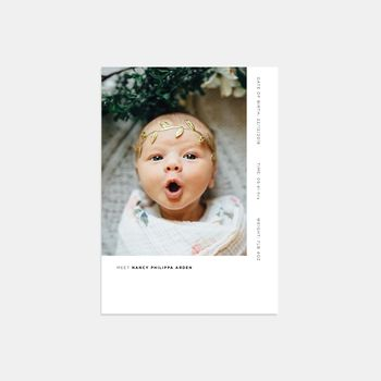 20 First Look Photo Birth Announcement Thank You Cards