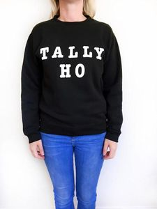 'Tally Ho' Slogan Sweatshirt