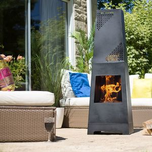 Moroccan Geometric Pattern Modern Chiminea - whatsnew
