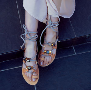 St. Tropez Rope Gladiator Sandals - shoes