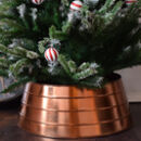 Copper Metal Christmas Tree Skirt