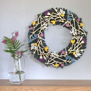 Wildflower Spring Wreath - room decorations