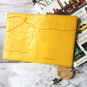 City Map Personalised Passport Cover Holder