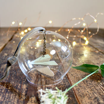 'Come Fly With Me' Papercut Glass Dome