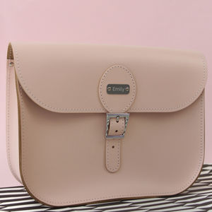 Personalised Large Leather Satchel - cross body bags