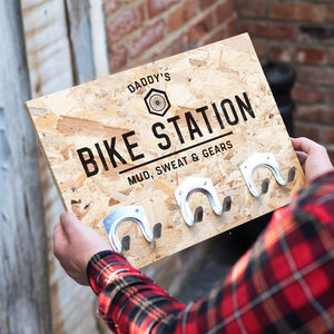 Personalised Bike Hooks Cycling Gift - storage & organisers
