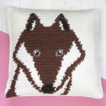 Fox Cushion Crochet Craft Kit