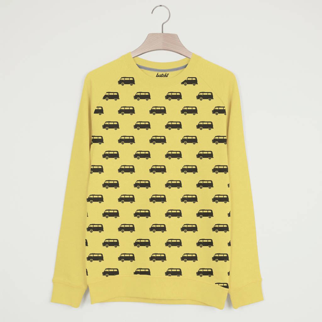 Camper Van All Over Print Men's Summer Sweatshirt