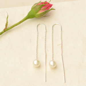 Falling Pearl Earrings - earrings