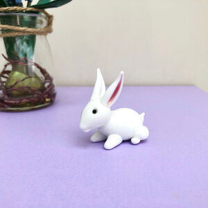 Easter Handblown Glass Bunny