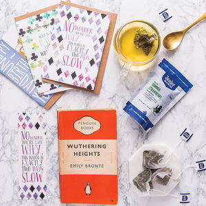 Vintage Book, Tea And Stationery Subscription Gift - find your zen