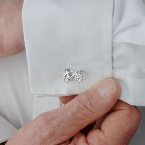 Personalised Racer Bike Cufflinks - sport-lover