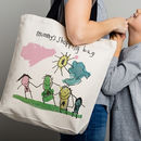 Personalised Shopping Bag With Child's Drawing