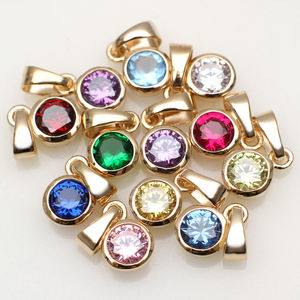18 Ct Gold And Swarovski Crystal Birthstone Charm