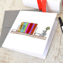 Personalised Book Spines Card