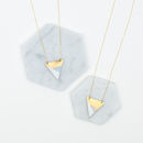 Metal Three Colour Triangle Necklace