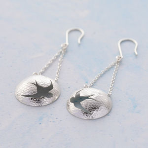 Swallow Dangle Earrings