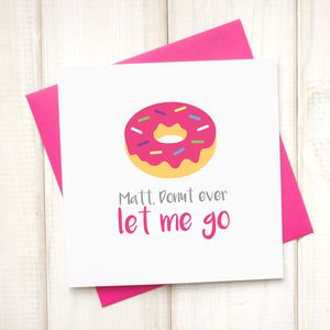 Personalised Donut Ever Leave Me Emoji Card - what's new