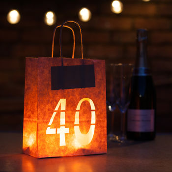 40th Birthday Party Decorations Lantern Bag