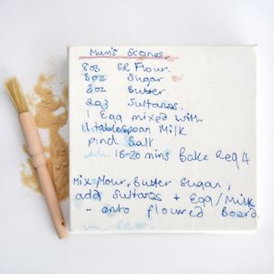 Personalised Sewn Recipe Canvas - valentine's gifts for him