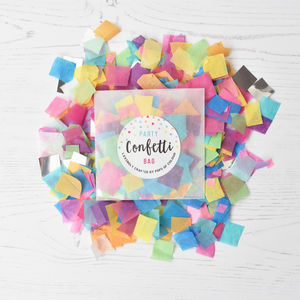 Party Confetti Bag In A Range Of Colours - petals & confetti