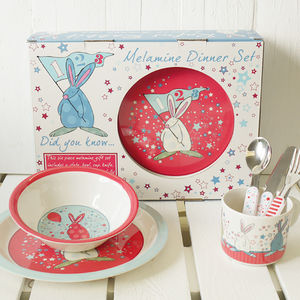 Baby Boy's Six Piece First Dinner Set