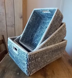 Blue Grass Baskets Set Three Large