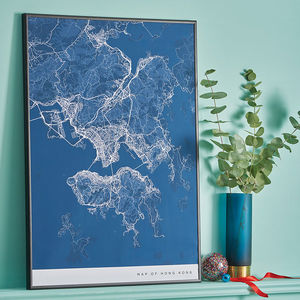 Personalised Contemporary Location Map Print - gifts for travel-lovers