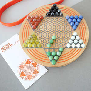 Traditional Chinese Checkers Wooden Board Game - board games