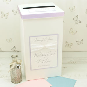 Personalised Vintage Pearl Wedding Post Box - weddings sale