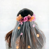 Hen Party Bride To Be Floral Blossom Veil - toys & games
