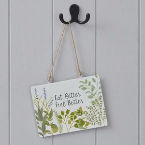 Eat Better Sign - home accessories