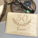 Personalised 30th Birthday Wooden Postcard