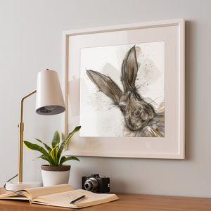 Illustrated Hare Print - posters & prints